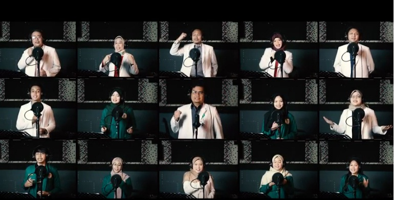 Cuplikan Youtube Cover Manusia Kuat by FKIK UNJA